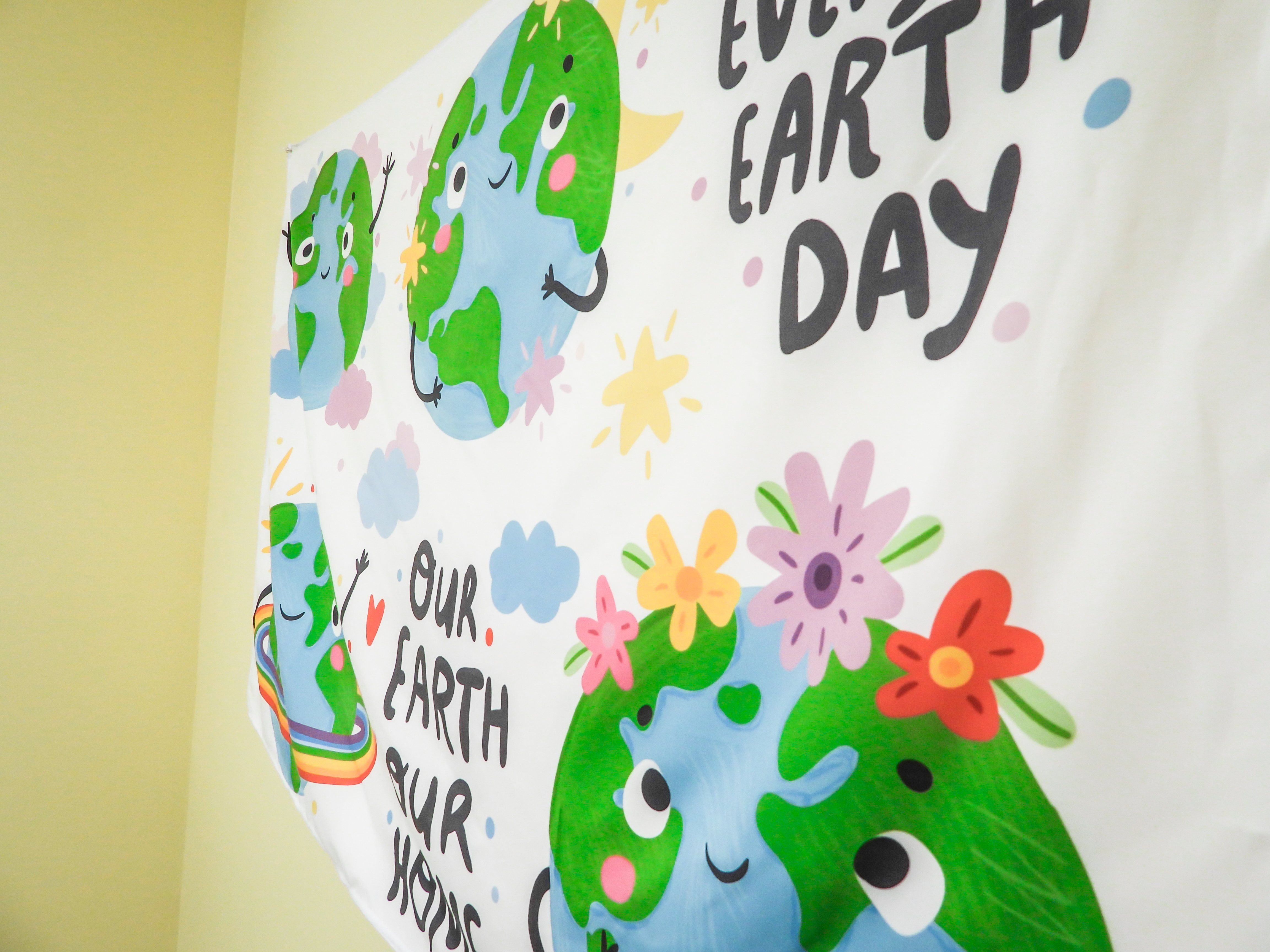 Go Green Earth Banner Tapestry Wall Hanging