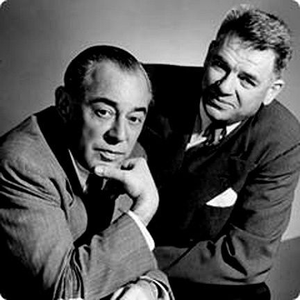 """Richard Rogers and Oscar Hammerstein were an influential, innovative and successful American musical theatre writing team. They created a string of popular Broadway musicals in the 1940s and 1950s, initiating what is considered the """"golden age"""" of musical theatre. With Rodgers composing the music and Hammerstein writing the lyrics, five of their shows, Oklahoma!, Carousel, South Pacific, The King and I and The Sound of Music, were outstanding successes."""
