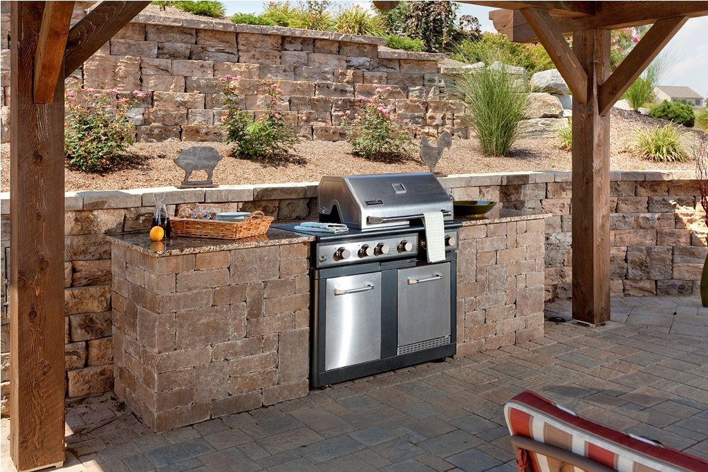 Techo-bloc Manchester Grill area   Outdoor Living ... on Patio With Grill Area id=53185