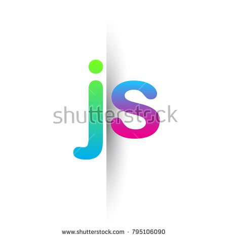 Initial Letter Js Lowercase Logo Green Pink And Blue Modern And