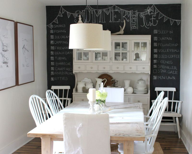 Cute Chalkboard Wall. Martha Stewart Paint, Glass Of Milk On Other Walls. Dining  Room ...