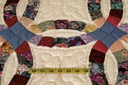 Merveilleux Wedding Ring Quilts For Sale | Double Wedding Ring Multicolor Amish Quilt  For Sale