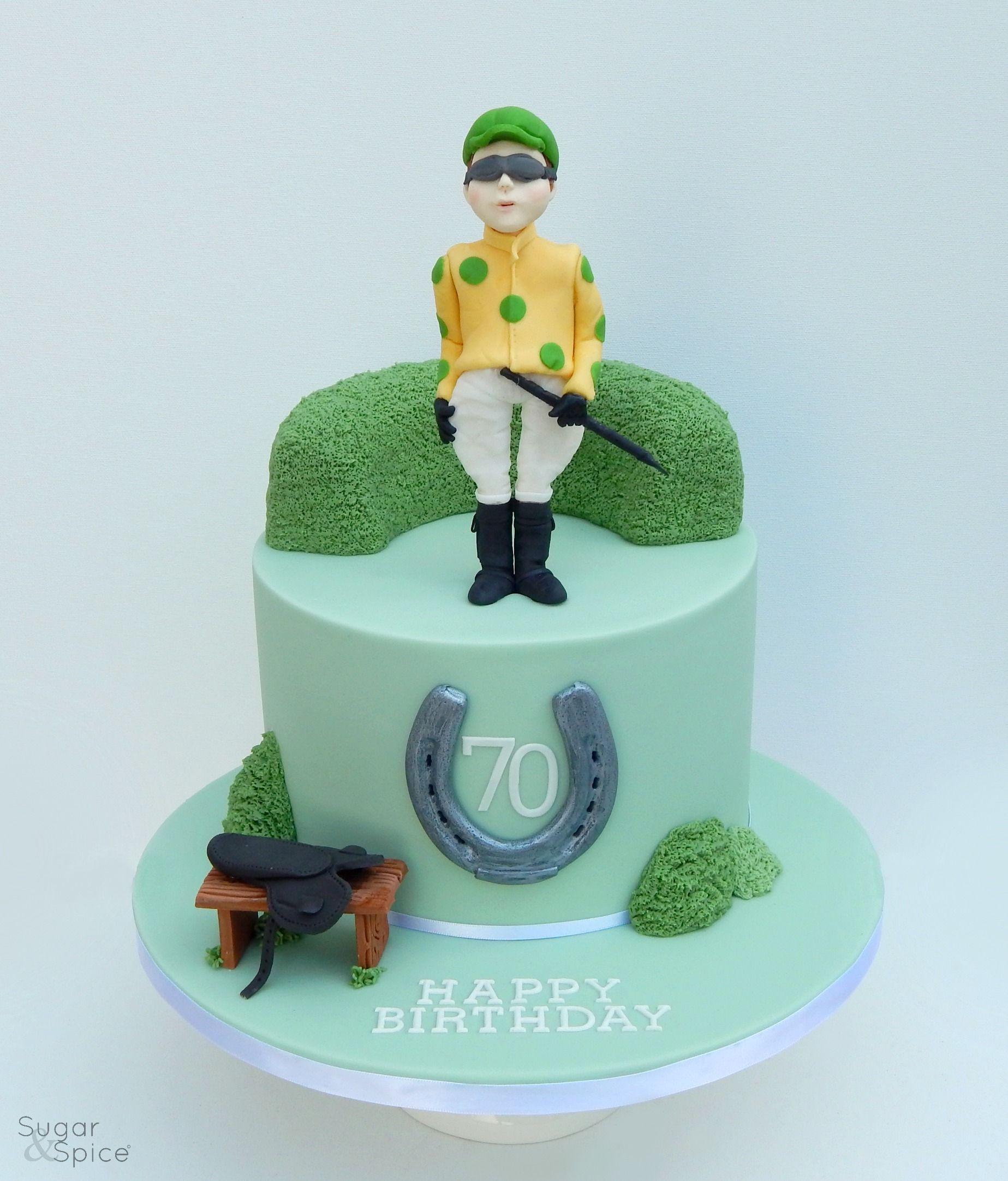 Jockey cake by Sugar & Spice Gourmandise Gifts Horse racing/jockey/racing saddle https://www.facebook.com/SugarandSpiceGourmandise
