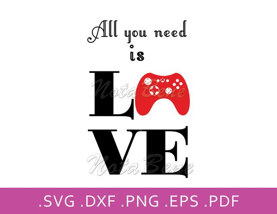 Download Love Game Console SVG All You Need Is Love SVG Video Games ...