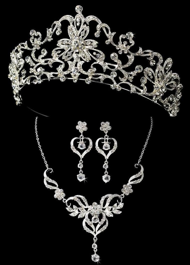 626a2cf976c3 Royal Tiara and Heart Jewelry Set for your regal Quinceanera ...