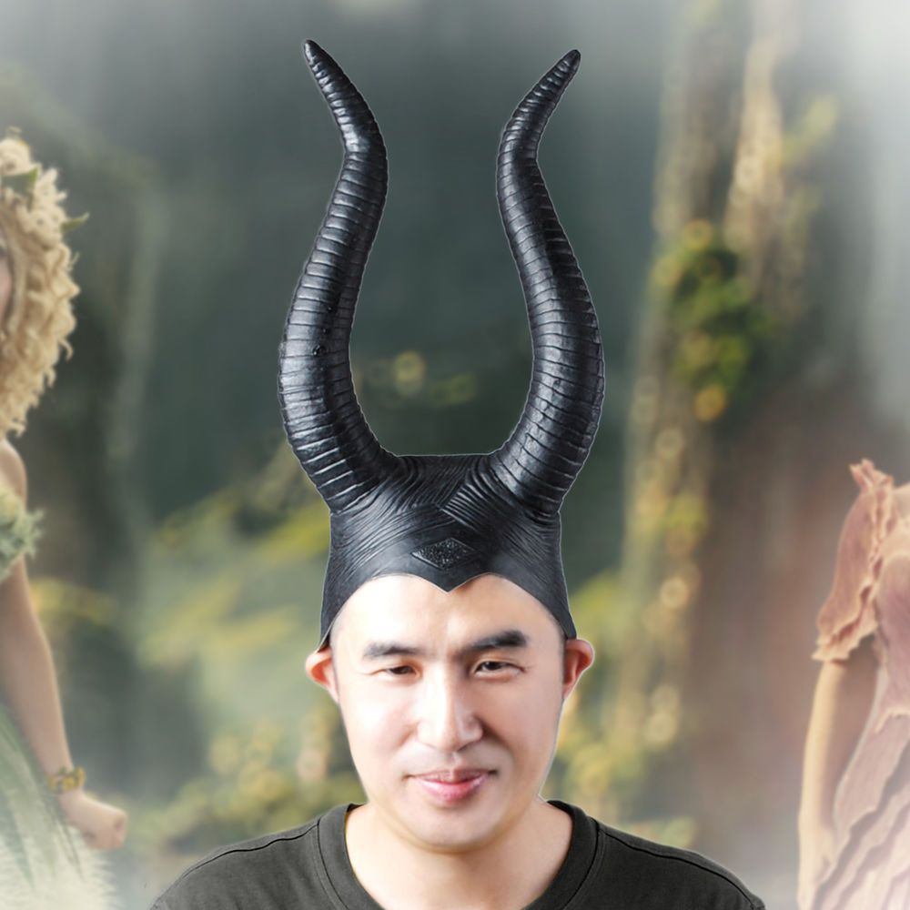 Teufelshörner Hörner Latex maleficent horns party cosplay Halloween ...