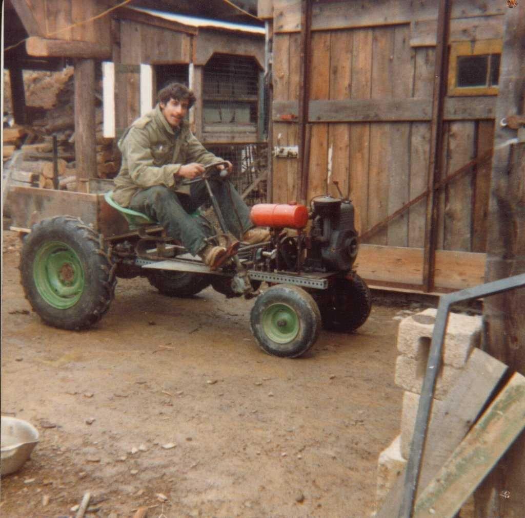 Show home build gas powered mini tractors - Homemade Tractor Smokstak
