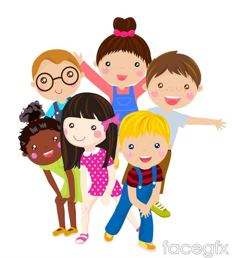 6 Cartoon Face Child Vector Cartoon Cartoon Loja De Roupa Infantil Ideias Criativas Para Criancas