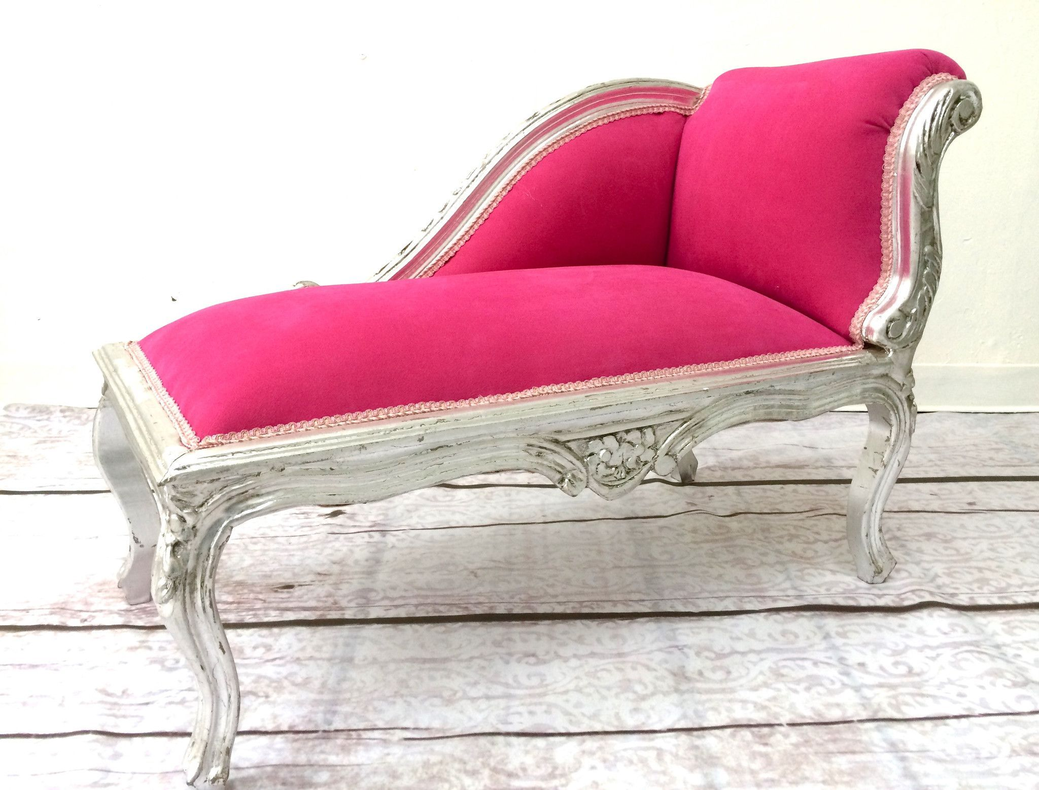 silver pink baroque chaise lounge  home  pinterest  chaise  - silver pink baroque chaise lounge