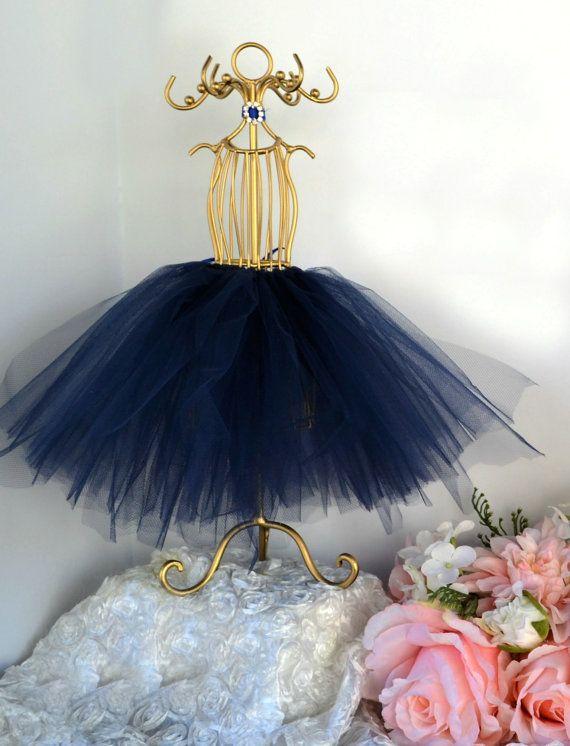 royal wedding decor tutu centerpiece gold tutu mannequin navy blue bridal shower tutu ballerina