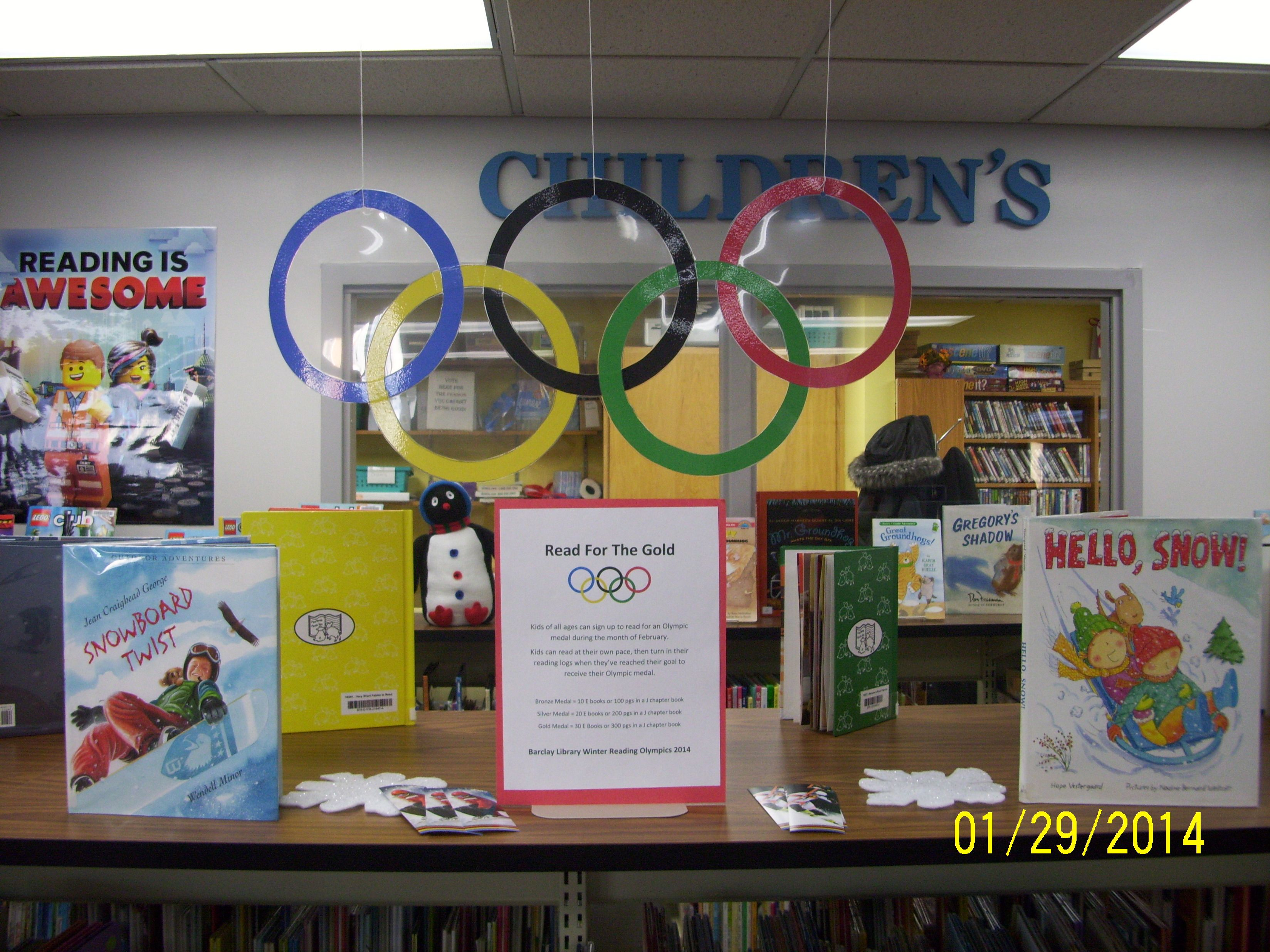 Read For The Gold - Winter Olympics Reading Program ...
