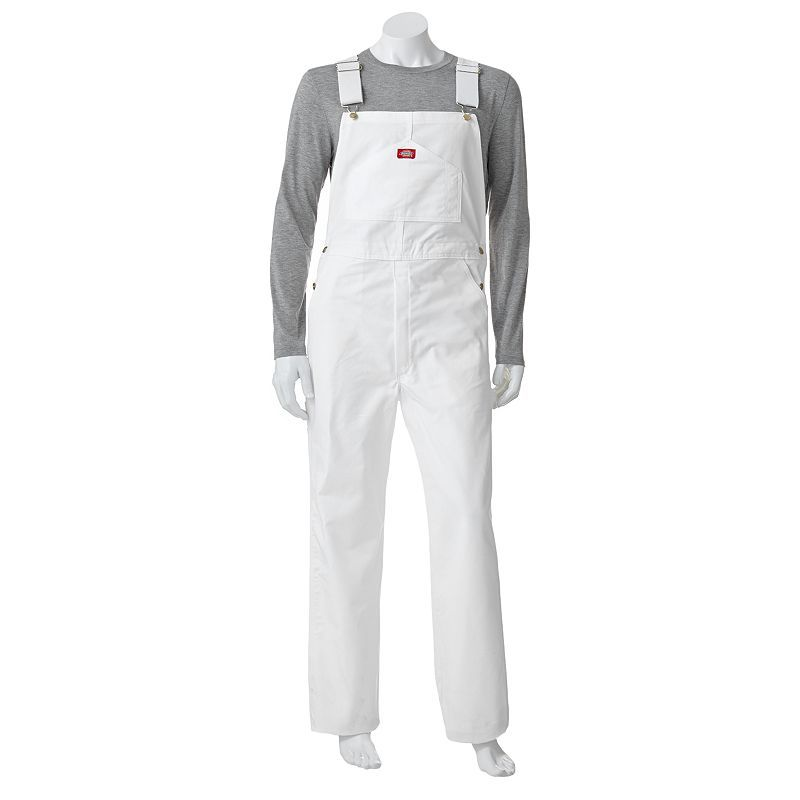 men s dickies painter bib overalls size 36x34 white oth on dickies coveralls id=58348