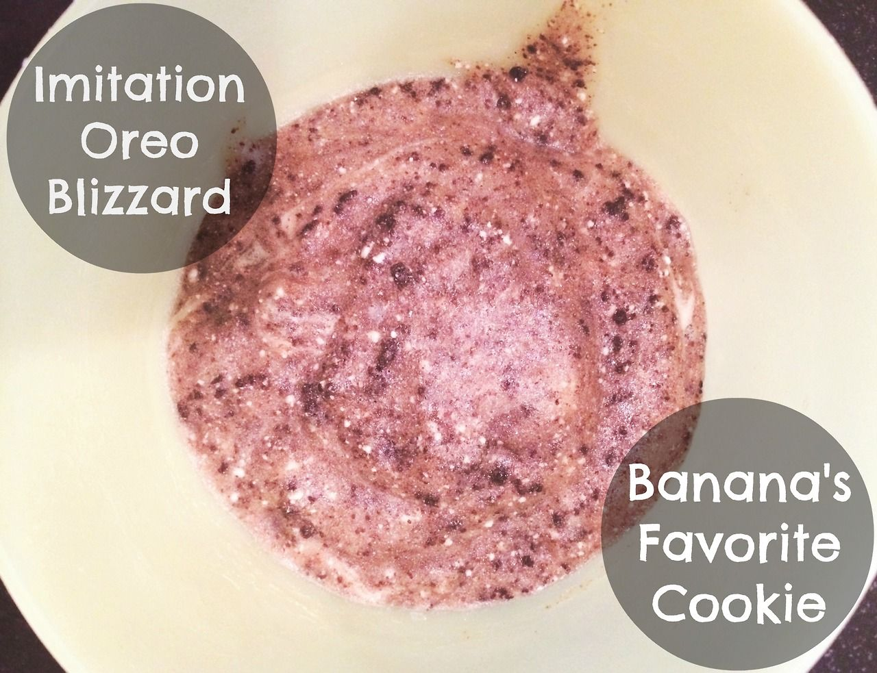 "Vegan Banana ""Ice Cream"" 4 Ways! - Imitation Oreo Blizzard: Banana's Favorite Cookie"
