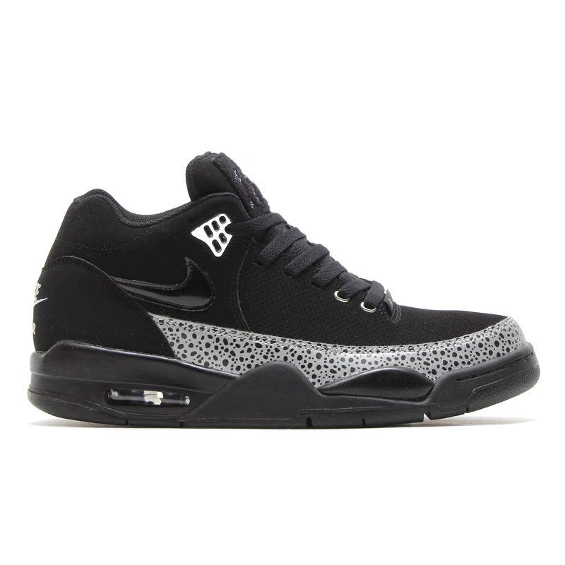 Brand Men s Nike Flight Squad Basketball Silver Black White Metallic Shoes Big Sale