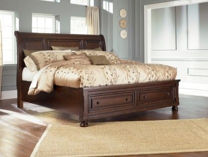 Porter King Sleigh Bed With Storage Footboard King Storage Bed