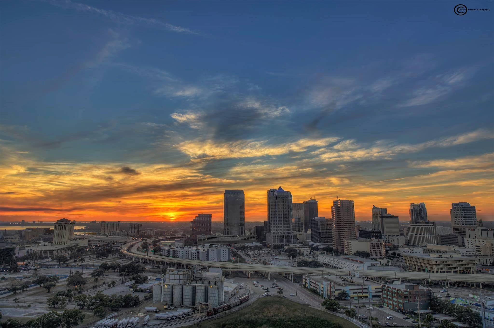Sunset over Tampa, Florida March 9, 2017 | Favorite places ...