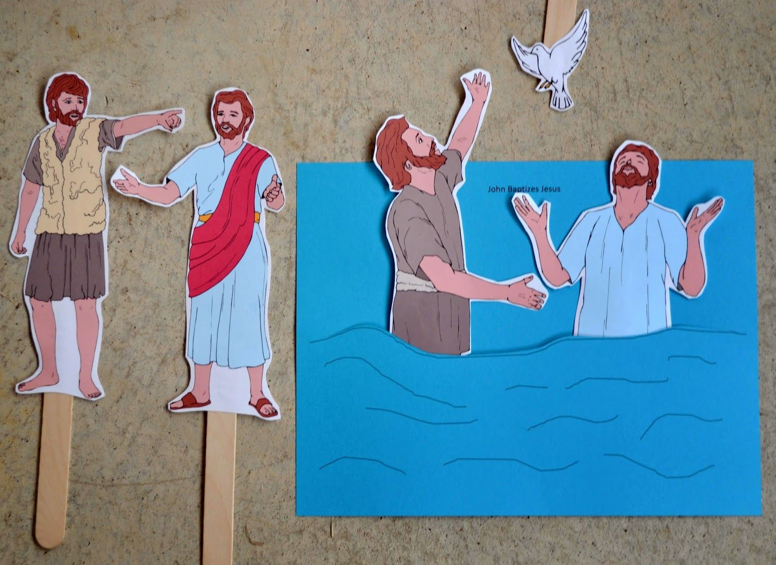 Bible Fun For Kids Preschool Alphabet W Is For Water Amp Jesus Is Baptized