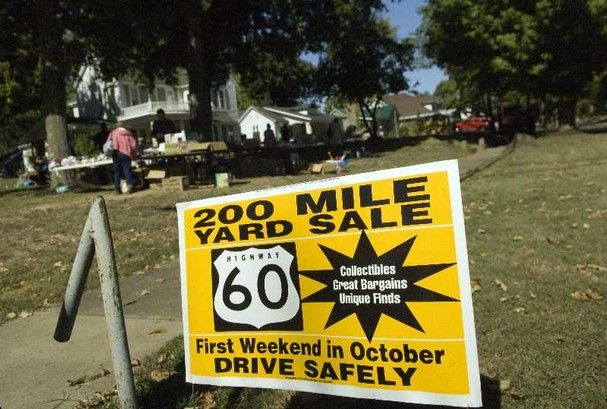 Highway 60 Yard Sale First Weekend In October Every Year