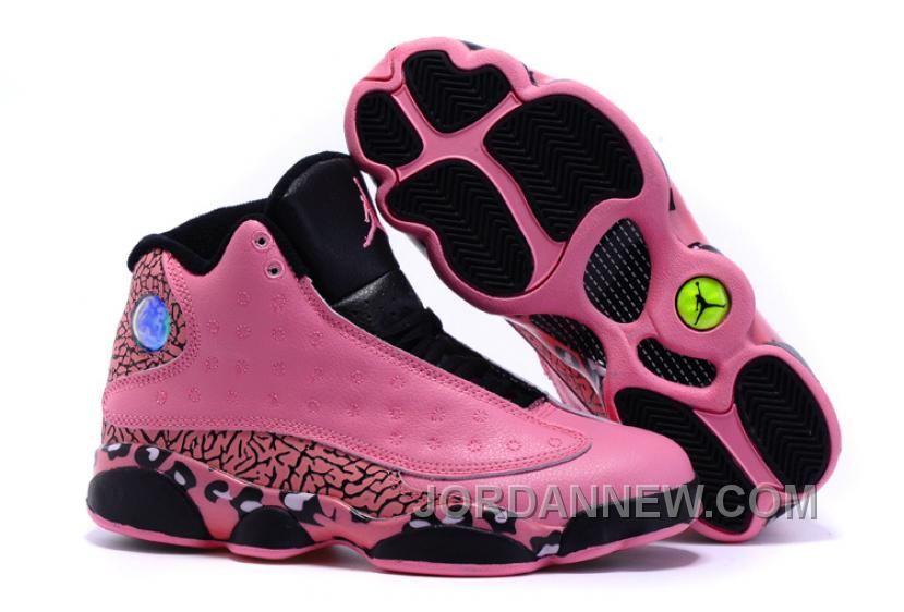 black jordan shoes 2016 for girls. buy 2016 girls air jordan 13 black pink leopard print shoes for sale from reliable