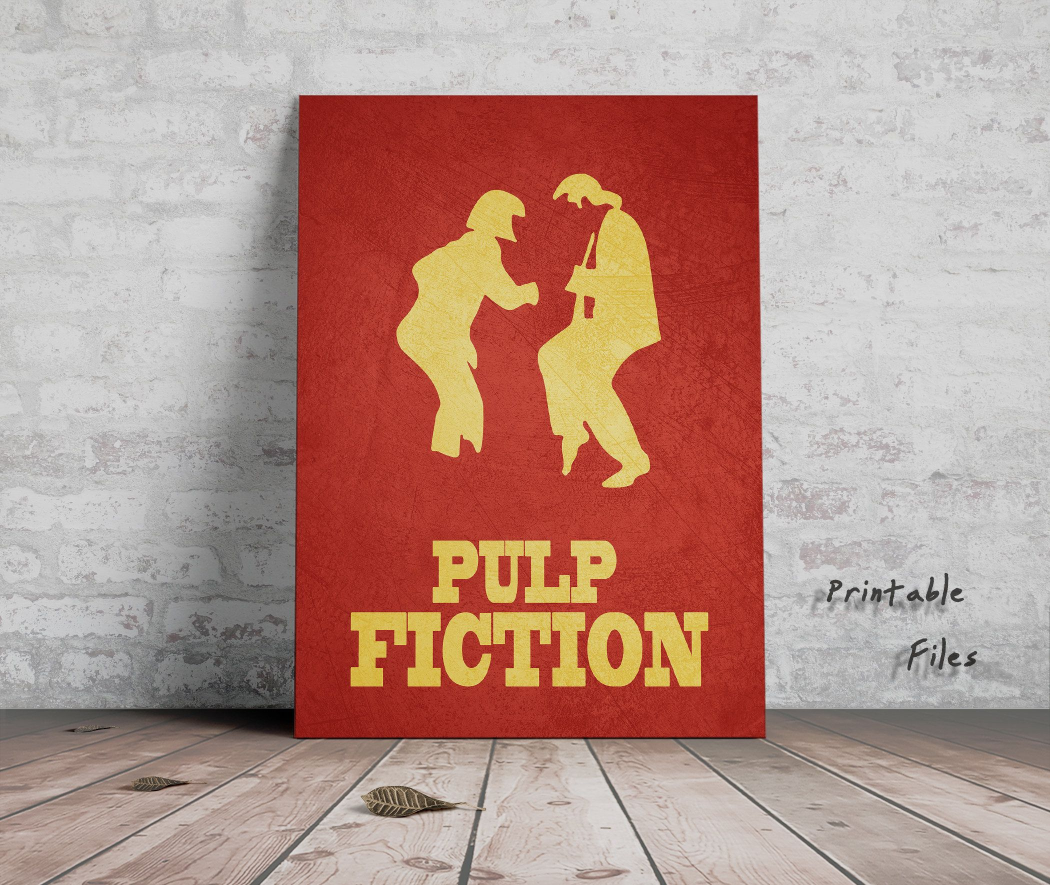 various sizes pulp fiction poster