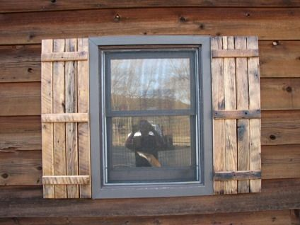 60 All types of EXTERIOR Shutters Oak Cedar Barn Wood LOW PRICE ...