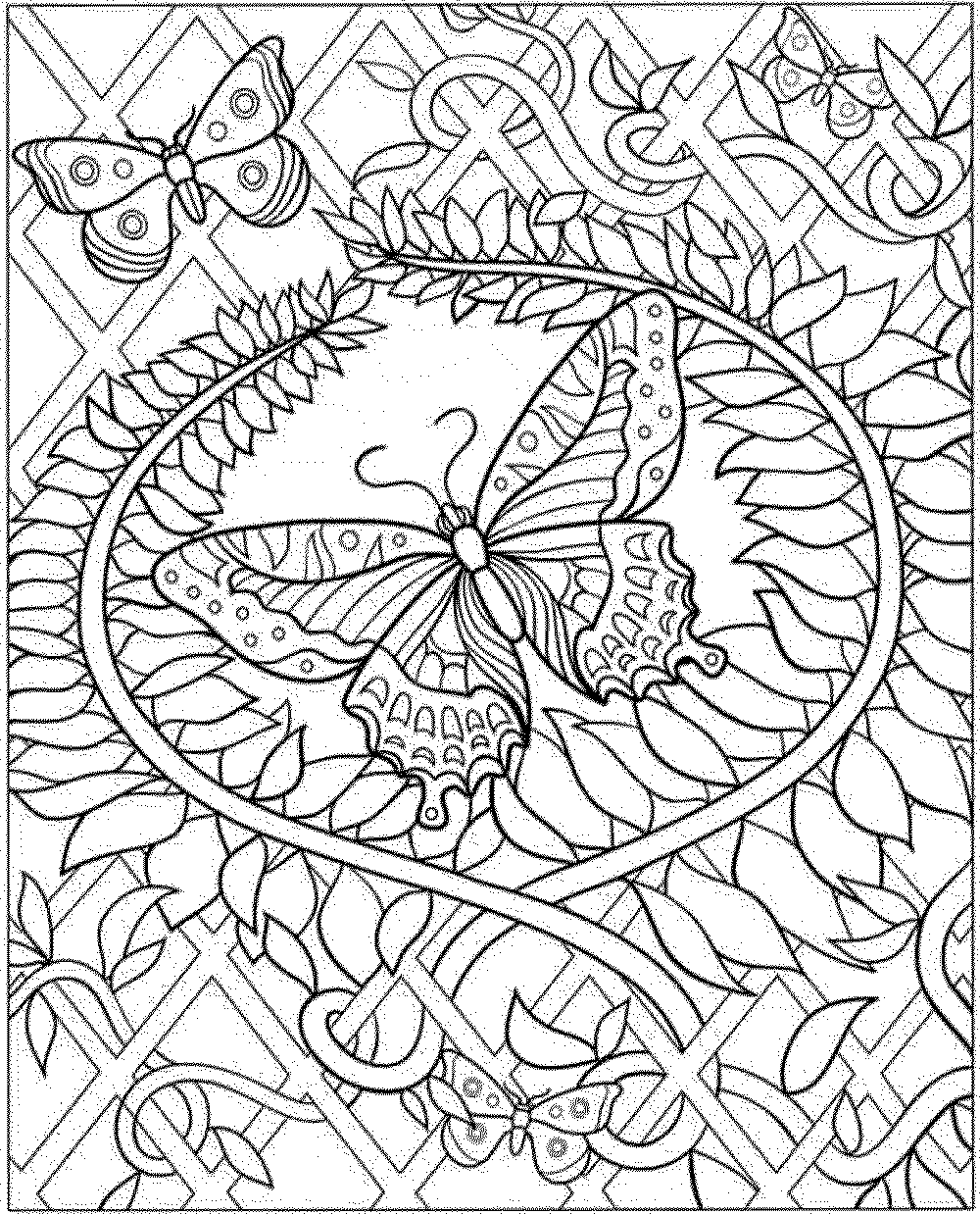 intricate coloring pages - Intricate Coloring Pages For Adults