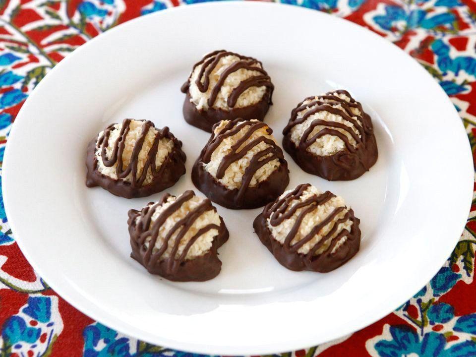 Dark Chocolate Dipped Macaroons