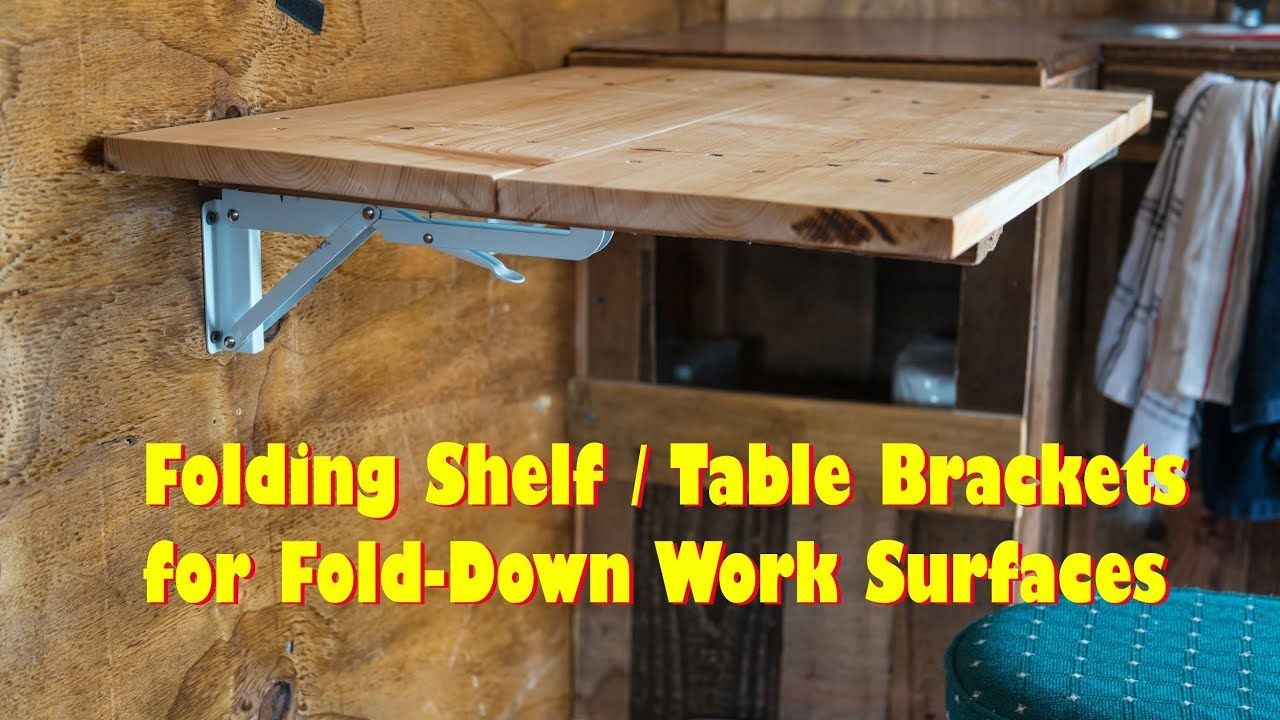 Folding Shelf Table Brackets Flip Up Wall Mount Love These Fold Down Table Wall Mounted Folding Table Collapsible Desk