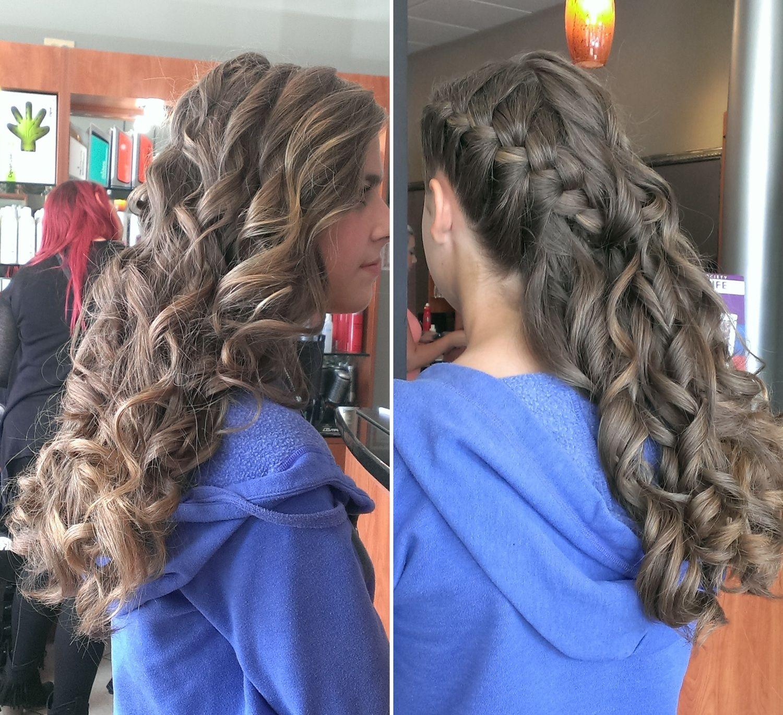 French Braid with Curls