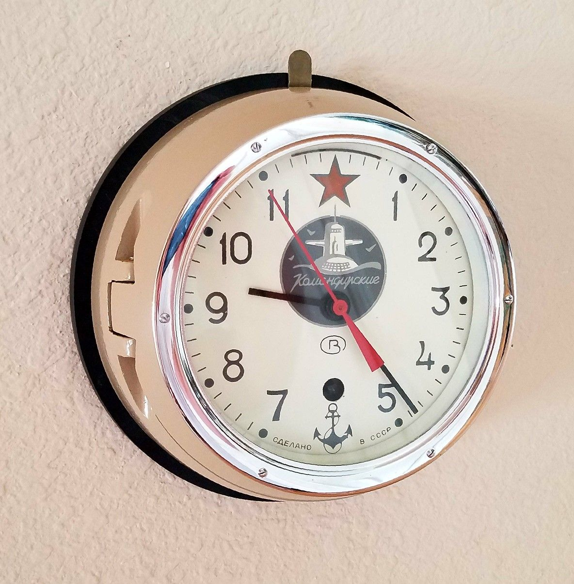 Professionally restored russian soviet military navy submarine professionally restored russian soviet military navy submarine clock with original winding key amipublicfo Images