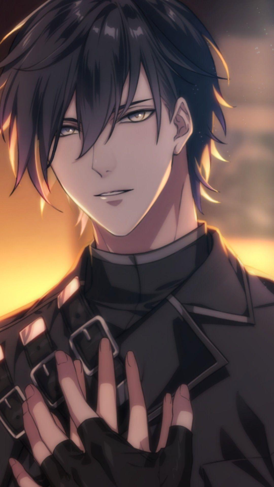 Luchino (Immortal Heart) Black hair anime guy, Cute