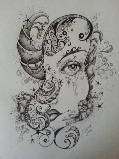 Pencil and pen by Lillian George 2015
