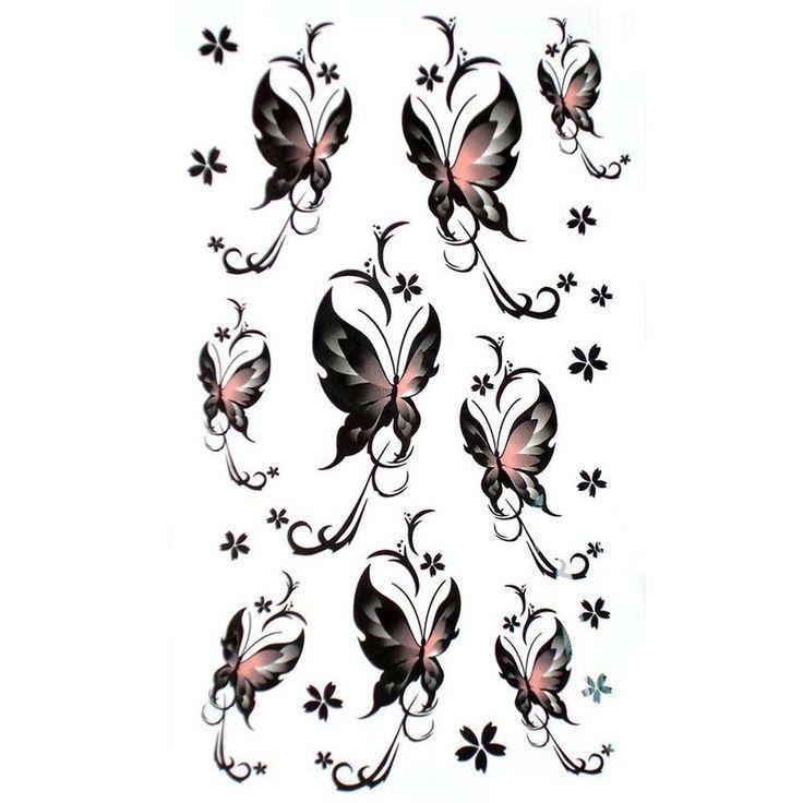 Fake Waterproof Small Butterfly Tattoo Stickers