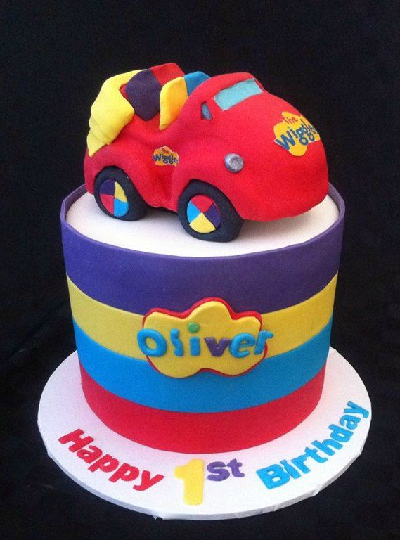 WIggles big red car birthday cake Everybody loves a party