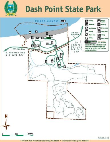 Camping Washington State Map.Dash Point State Park Map Camp Local Adventures Pinterest