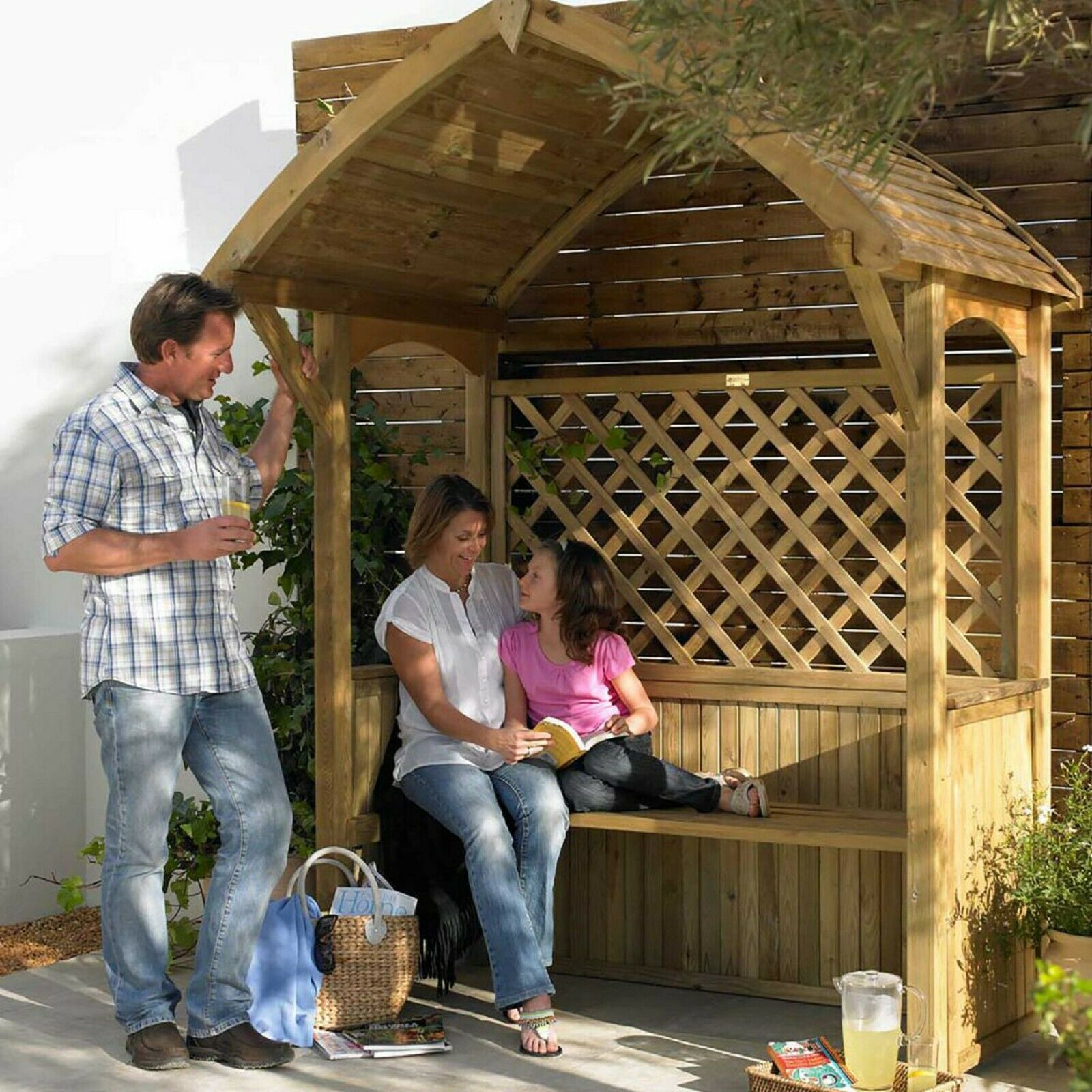 Arbour Seat in 2020 Arbour seat, Softwood, Garden seating