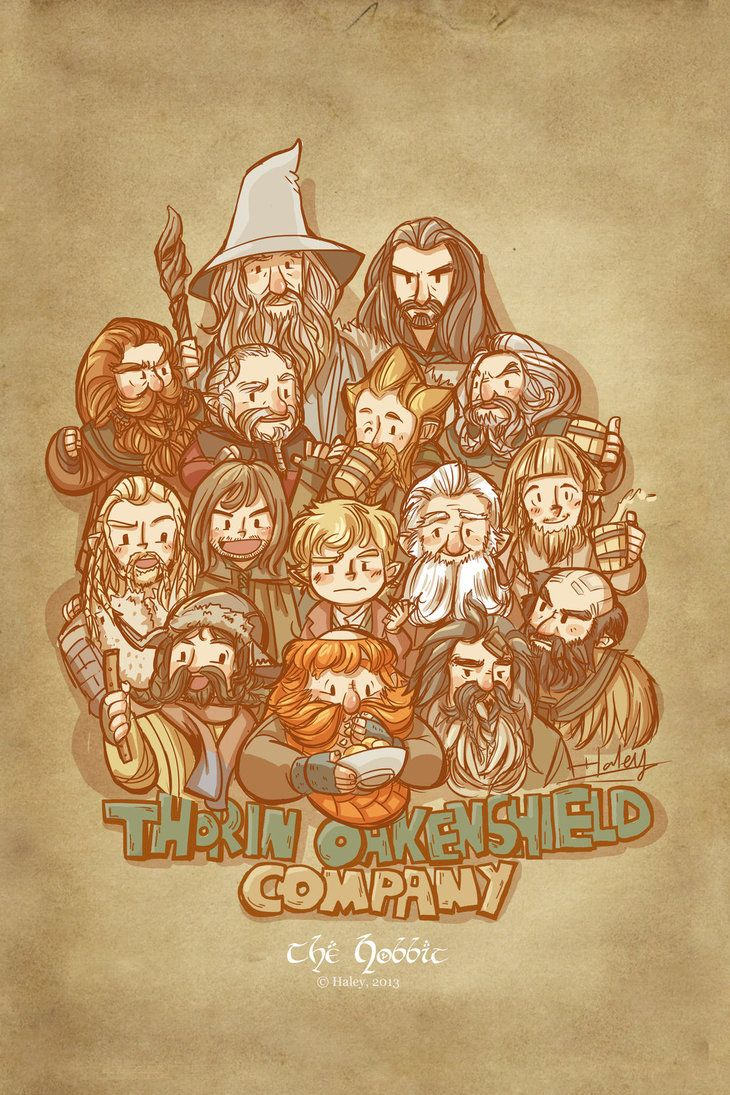 Thorin oakenshield company by haleyhss on deviantart the hobbit