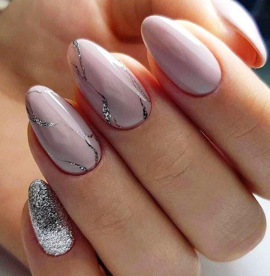 Идеи маникюра на овальных ногтях фото