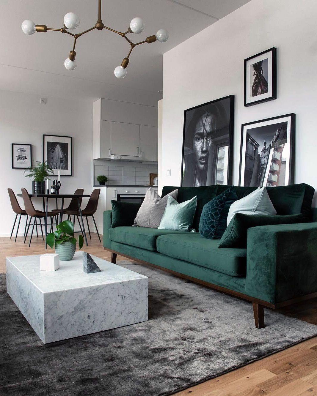 Scandinavian Living Rooms Rug Inspirations Green Sofa Living Room Living Room Decor Apartment Living Room Scandinavian