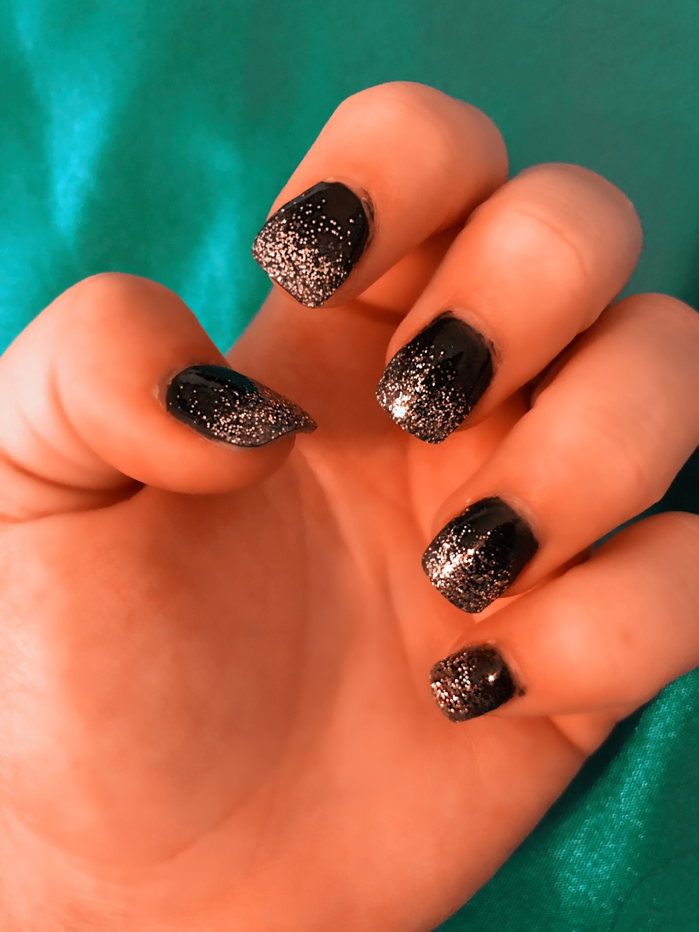 Sns Black And Silver Ombre Nails Black To Silver Ombre Ombre Nails Trendy Nails