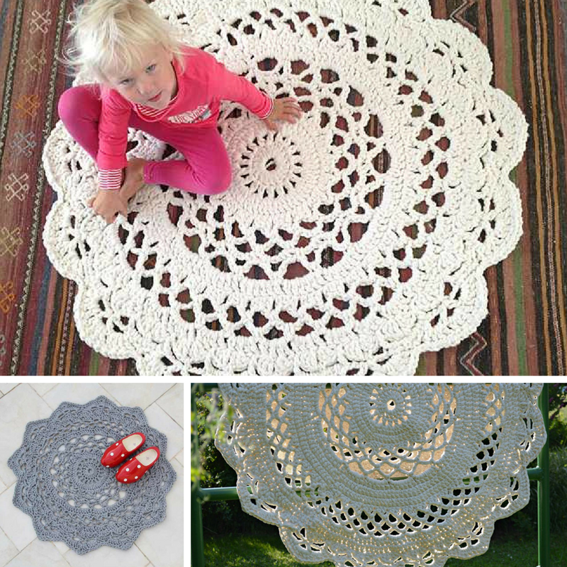 Giant Area Rugs Free Crochet Patterns Knit And Crochet Daily Crochet Rug Patterns Crochet Doily Rug Free Crochet Doily Patterns