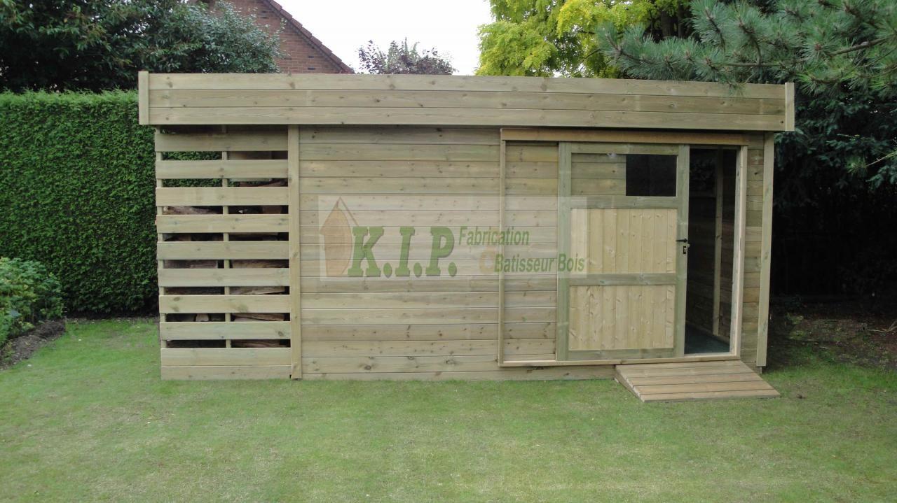 Abri de jardin toit plat pas cher remise en bois pour jardin | Ecole ...