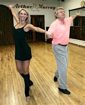 Jerry Springer & Kym Johnson in rehearsals.