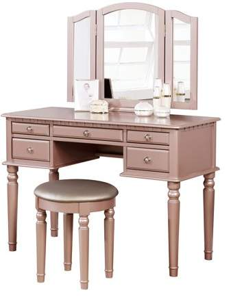 Excellent Bobkona Bobkona St Croix Collection Vanity Set With Stool Machost Co Dining Chair Design Ideas Machostcouk