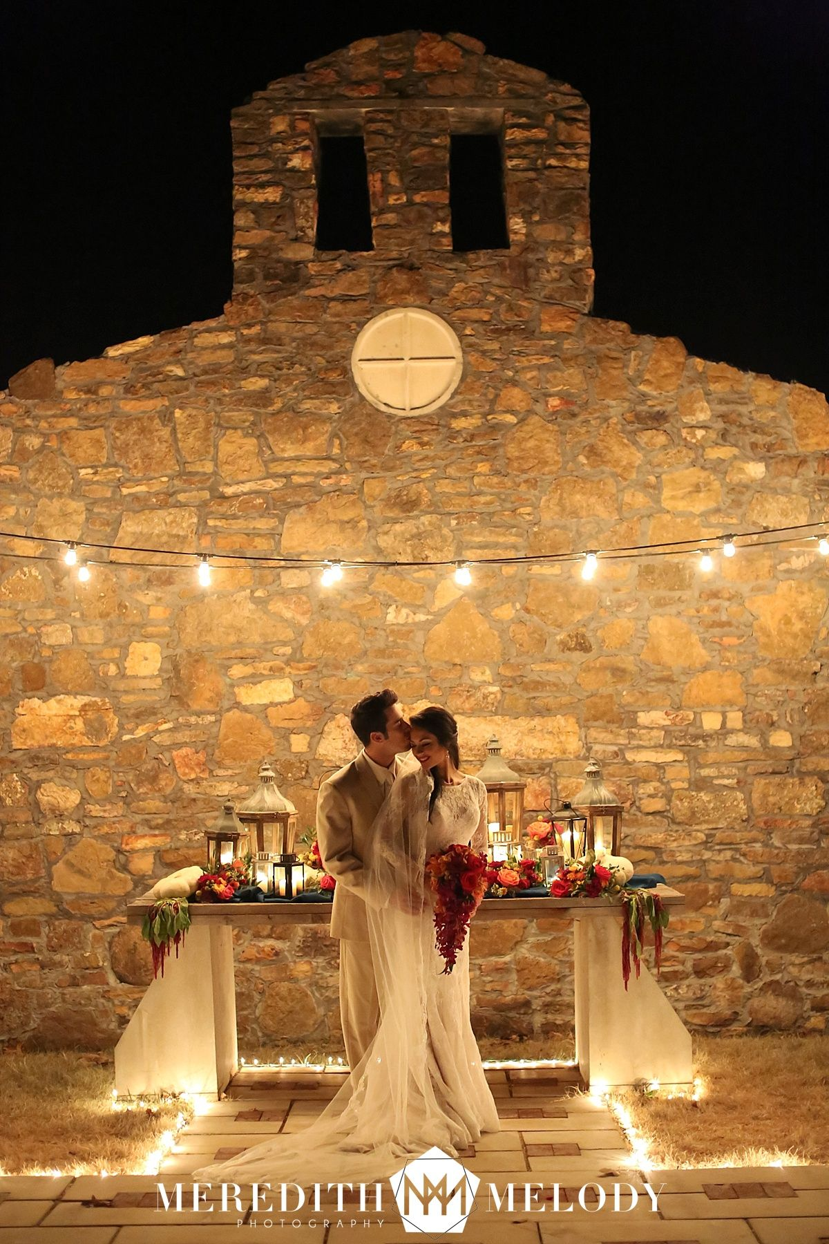 Candle Lit Wedding Ceremony Vineyard Candlelight Sasafr Springs