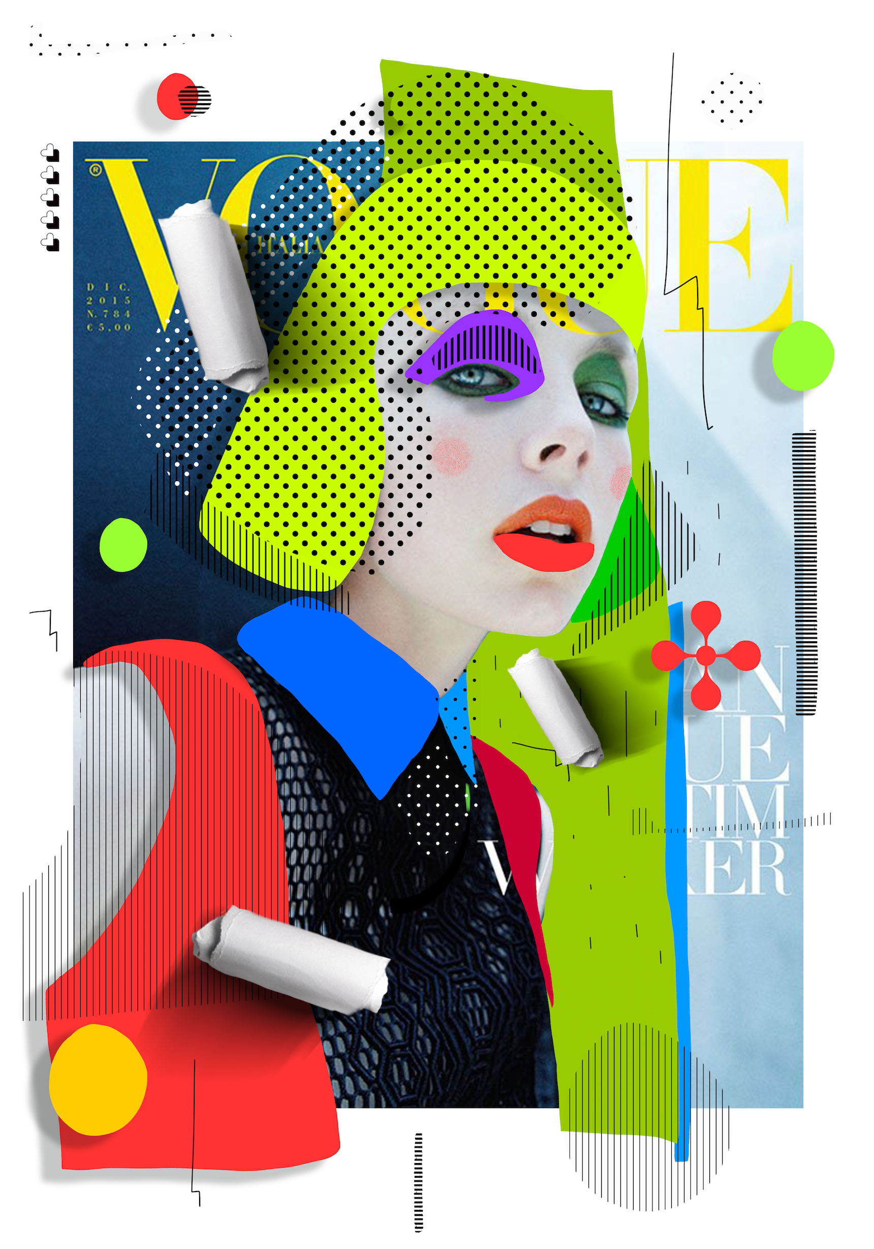 Check Out This Behance Project Cheek To Cheek Https Www Behance Net Gallery 59182007 Cheek To Cheek Collage Design Graphic Poster Photoshop Design