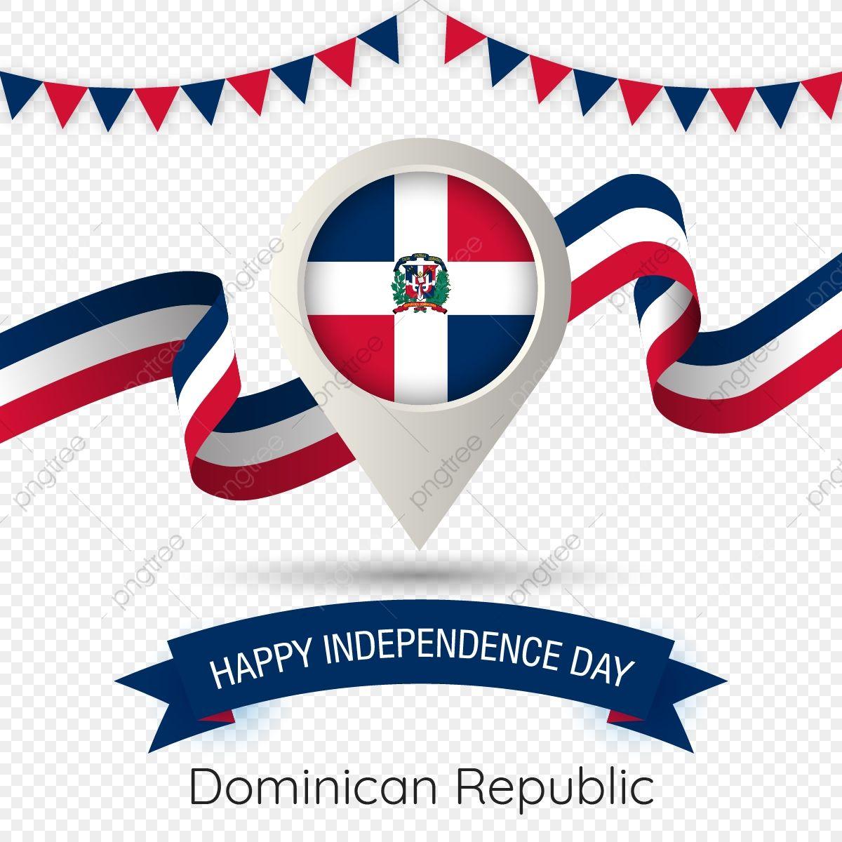 Republica Dominicana El Dia De La Independencia Con Estilizada Ilustracion Country Flag Pin Republica Dominicana Feliz Dia De La Independencia Bandera Png Y En 2021 Dia De La Independencia Feliz