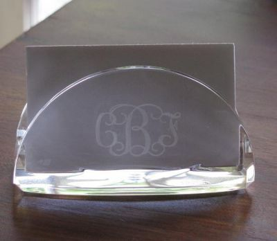Monogrammed acrylic business card holder a great gift for bosses monogrammed acrylic business card holder a great gift for bosses co workers or to celebrate a new job reheart Images
