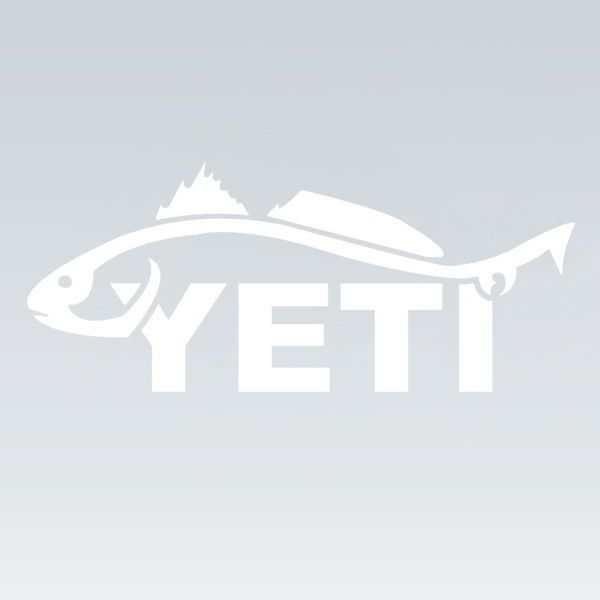 Yeti redfish window decal