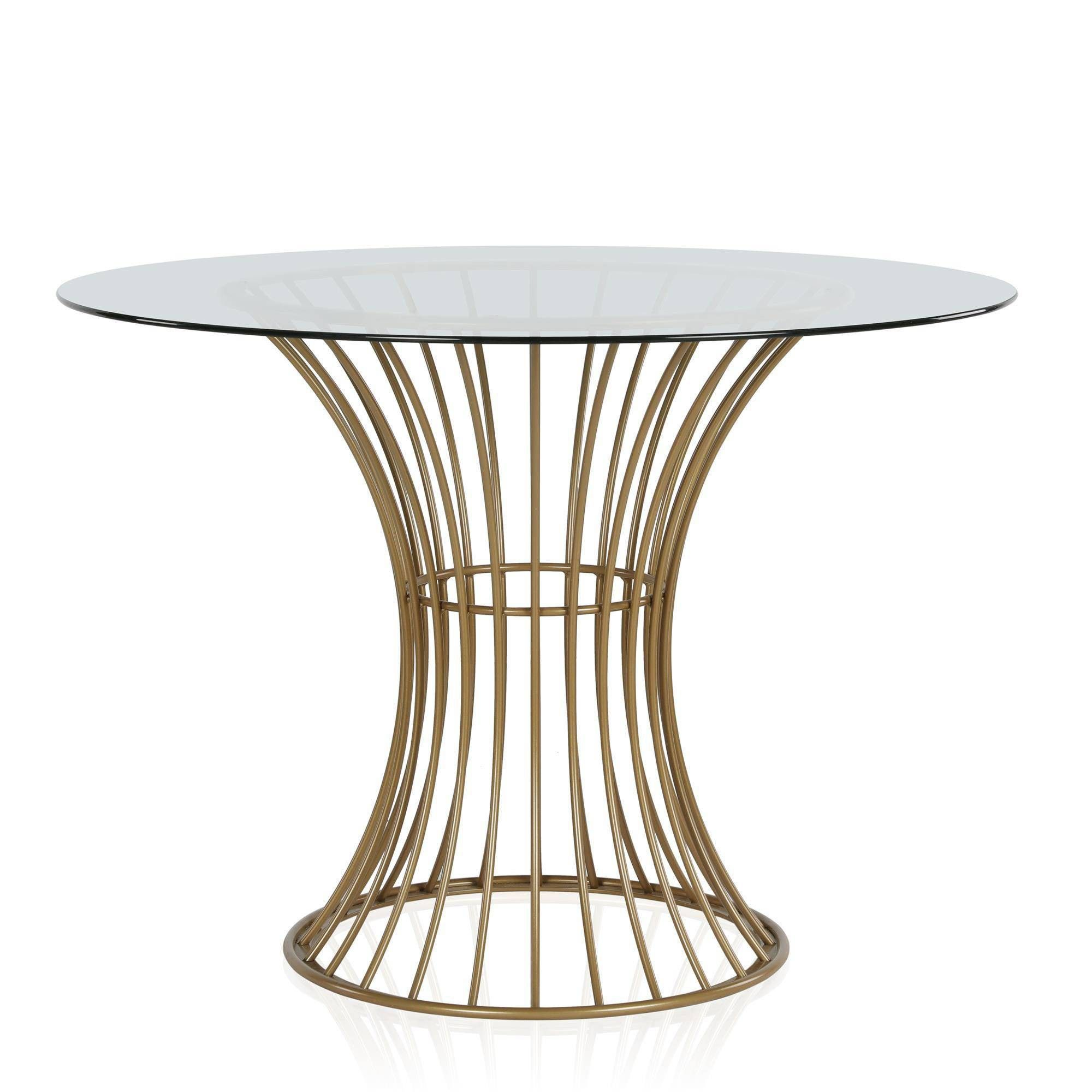 Westwood Glass Top Dining Table With Tempered Glass Brass Cosmoliving By Cosmopolitan Interer Dizajn Interera Dizajn